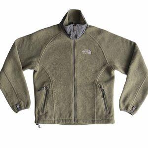 The North Face Womens Khaki Full Fleece Zip Jacket